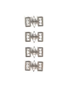 Spiegel + Wischer, silbern, 8 x