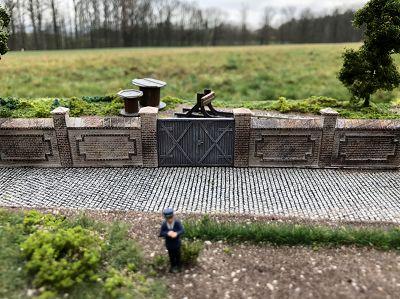 Fabrik- oder Friedhofsmauer, Set A / HO