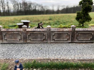 Fabrik- oder Friedhofsmauer, Set B / HO