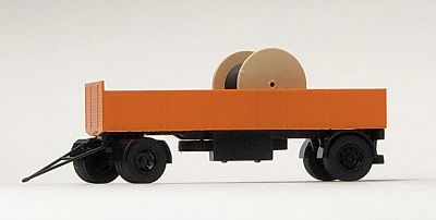 Obus-Fahrleitungsbau, Pritsche mit Trommel FERTIG