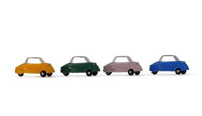 Minikit 4 x Messerschmitt KR200,  Farbmix