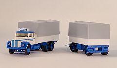 Scania 111 Lkw + Anh. HALLENS, Schweden