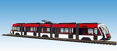 Solaris Tramino rot-weiß, 3 DEPOT.