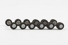 Radsatz mit Radkappen Midibus (für 3 Busse), 9,8 mm
